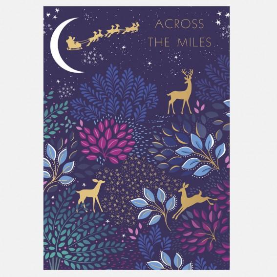 Deer Garden Across the Mile Christmas Card