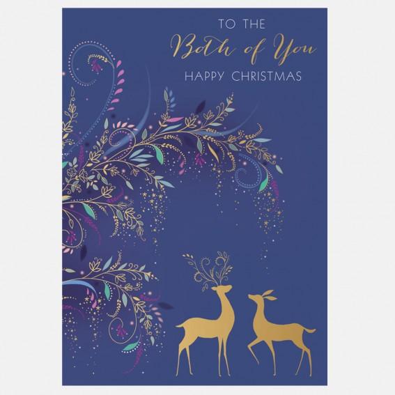 Winter Deer Both of You Christmas Card