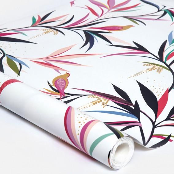 Bamboo White Wallpaper