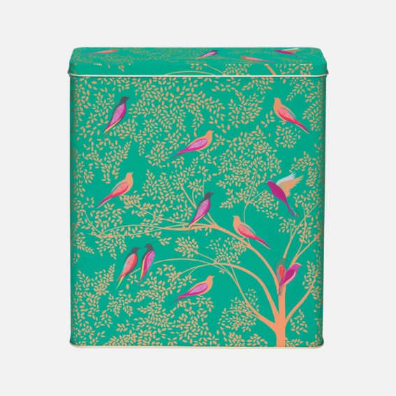 Green Birds Cereal Tin