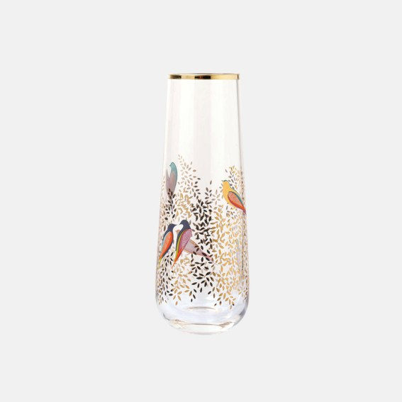 Single Stem Gold Leaves Glass Vase