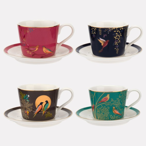 Chelsea Ceramic Espresso Cup & Saucer, Set of 4