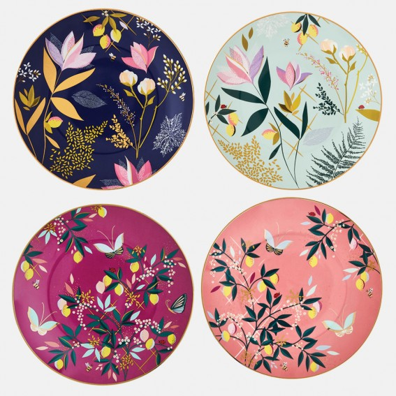 Orchard Cake Plates - Assorted Set of 4