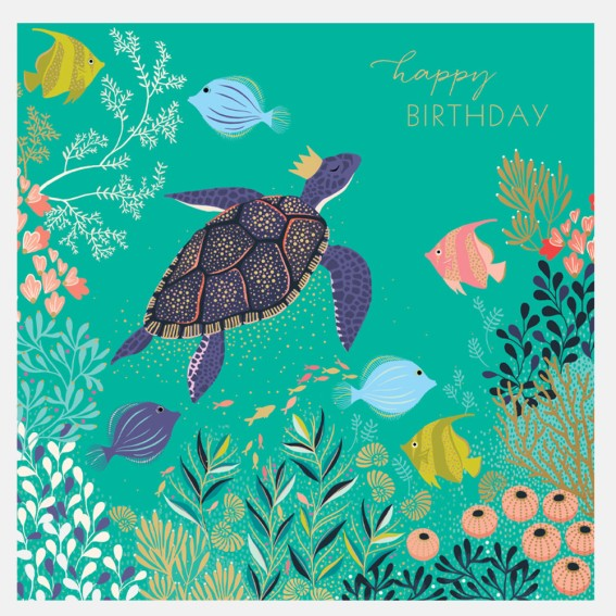 Deep Blue Sea Birthday Card