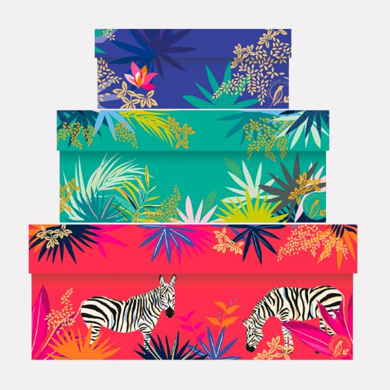 Tropical Gift Boxes - Set of 3