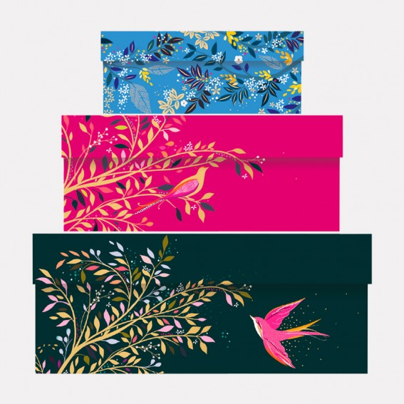 Birds Gift Boxes - Set of 3