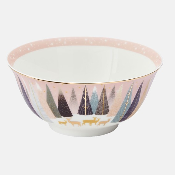 Frosted Pines Deer Candy Bowl