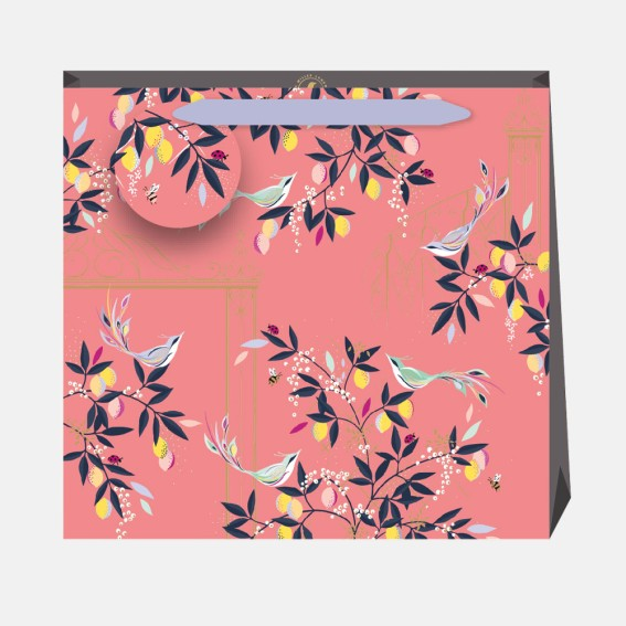 Coral Orchard Gate Large Gift Bag