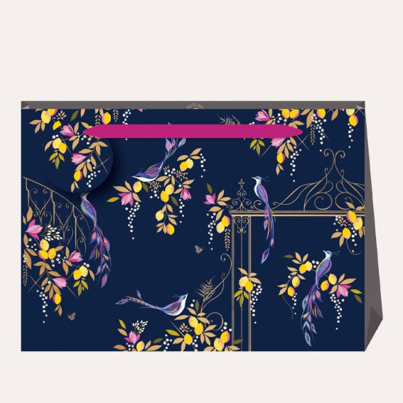 Navy Orchard Gate Large Gift Bag