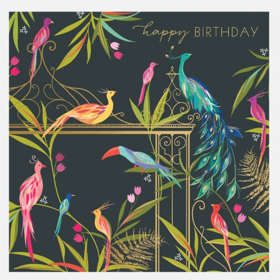 Beautiful Birds Birthday Card