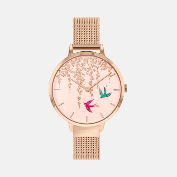Swallow Rose Gold Mesh Watch