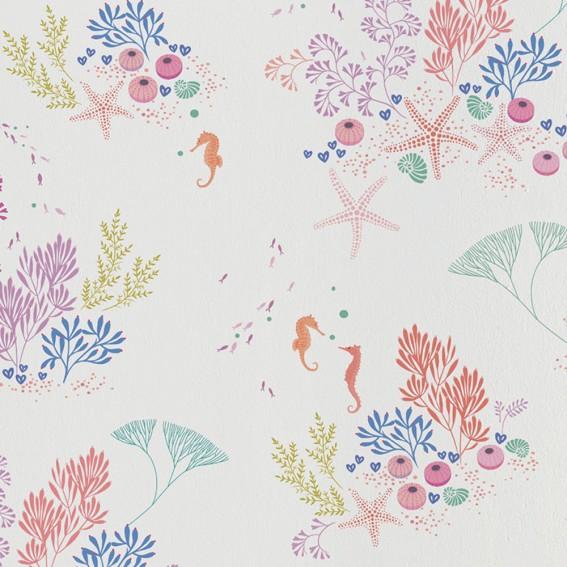 White Underwater Wallpaper SAMPLE