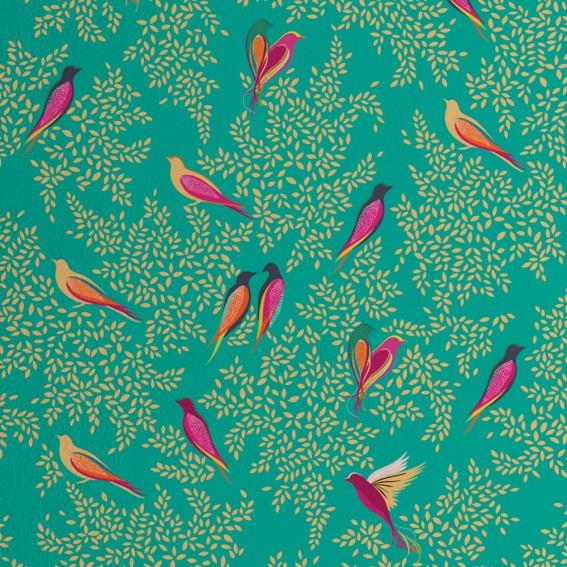 Green Birds Wallpaper SAMPLE
