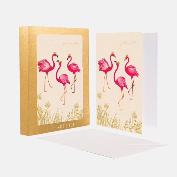Flamingo Note Cards - Set of 10 Cards