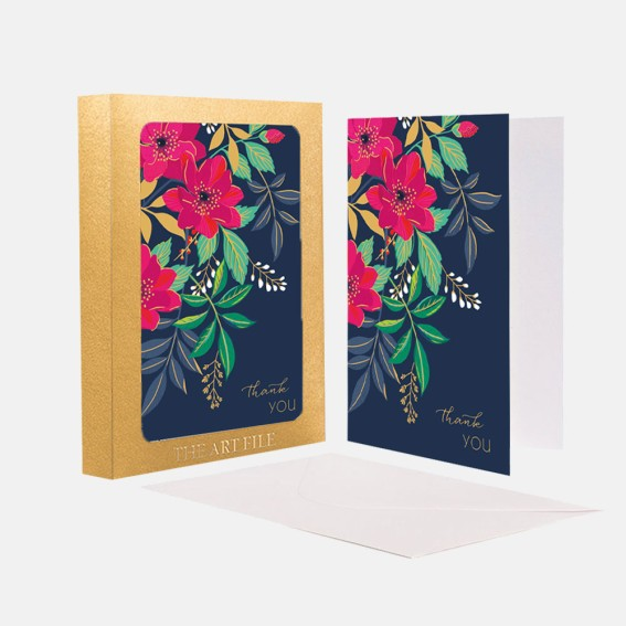 Floral Thank You Notecard  - Set of 10 Cards