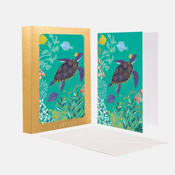 Deep Blue Sea Notecard  - Set of 10 Cards