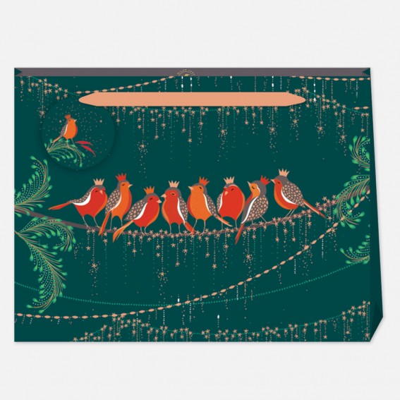 Rows of Robins Large Gift Bag