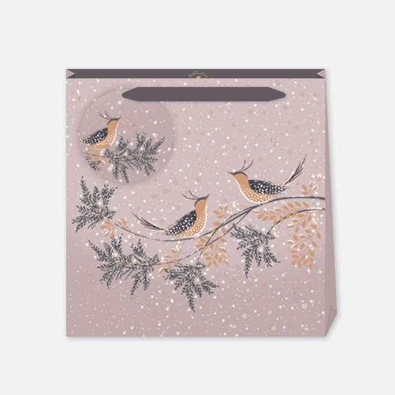 Winter Snow Birds Medium Gift Bag