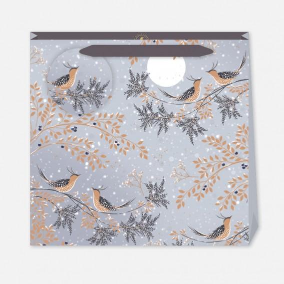 Winter Snow Birds Large Gift Bag