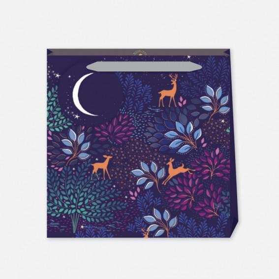 Magical Deer Floral Medium Gift Bag