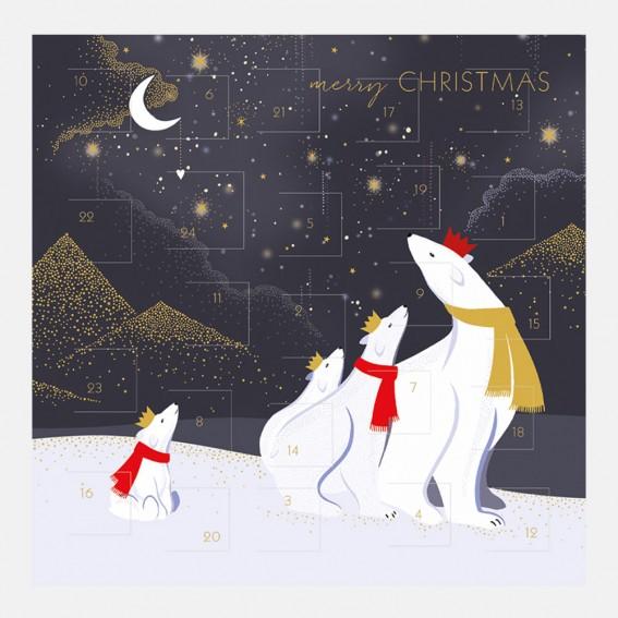 Polar Bears Advent Calendar Card