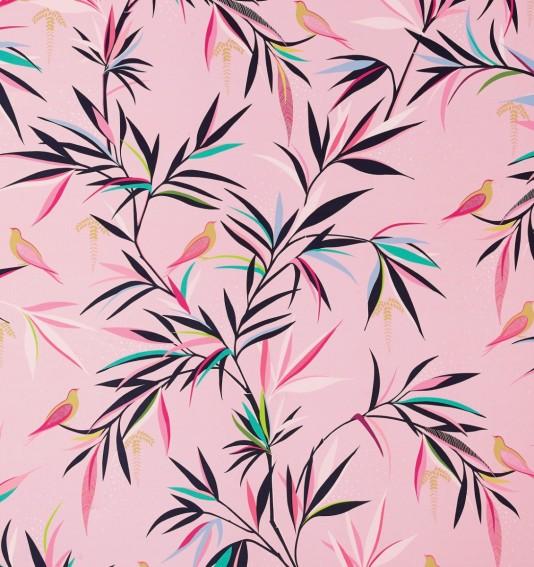 Bamboo Soft Pink Velvet Fabric