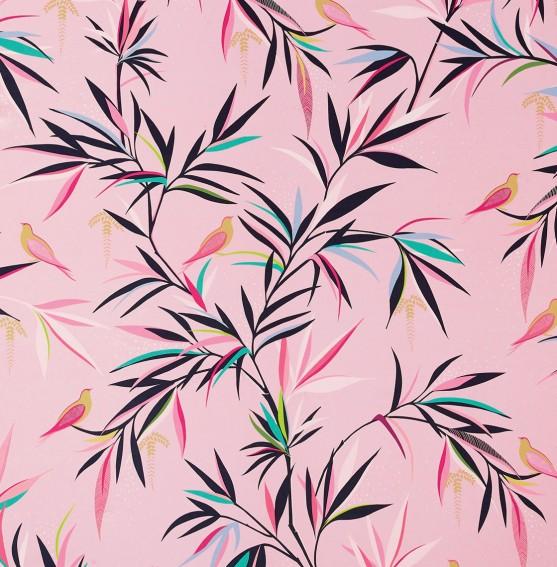 Bamboo Soft Pink Sateen Fabric