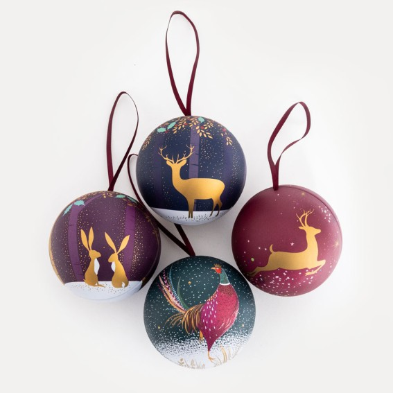 Christmas Fillable Tin Baubles - Set of 4