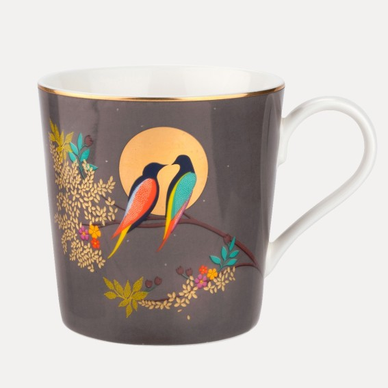 Birds in Moon Mug