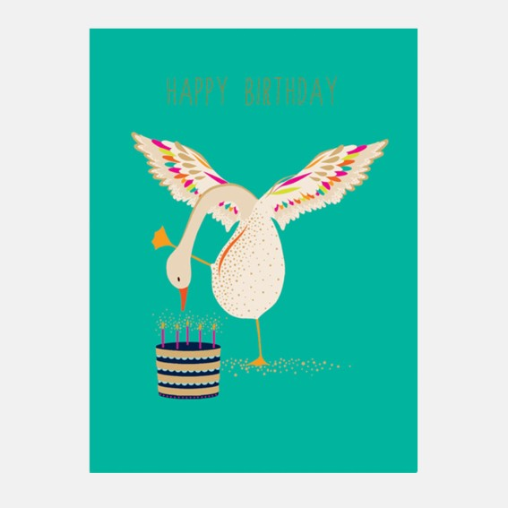 Happy Birthday Duck Card