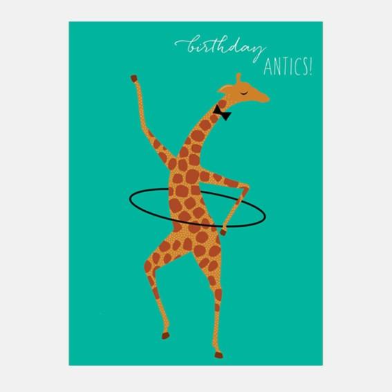 Hula Giraffe Card