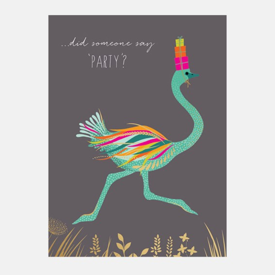 Party Ostrich Card