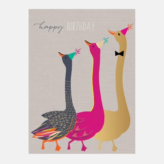 Dancing Geese Card