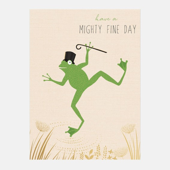 Ta-Da Frog Card