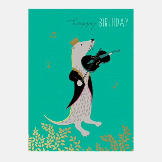 Violin & Otter Card