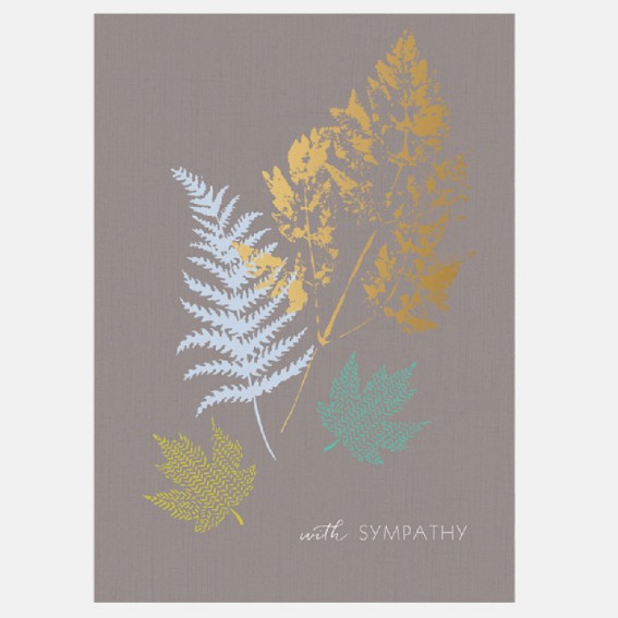 Sympathy Gold Leaf Card