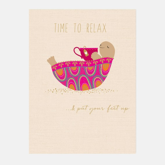 Time to Relax Tortoise Card