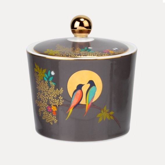 Birds in Moon Sugar Pot