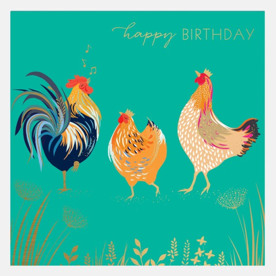 Chickens Happy Birthday Card