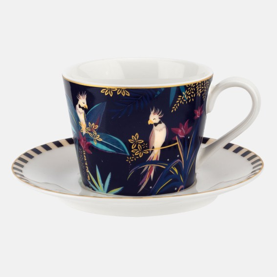 Cockatoo Teacup & Saucer