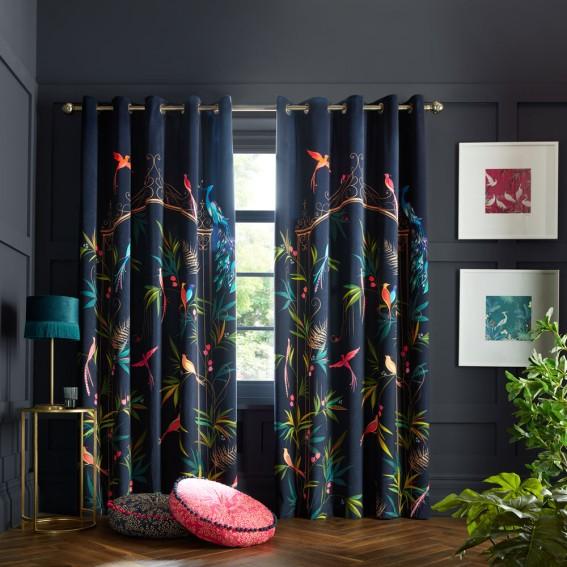 Enchanted Gate Ready Made Curtain Pair - W168cm x Drop 229cm