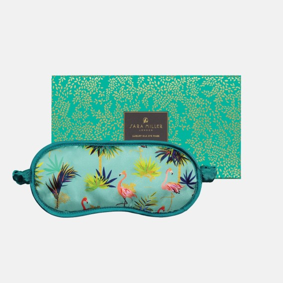 Tahiti Flamingo Silk Eye Mask