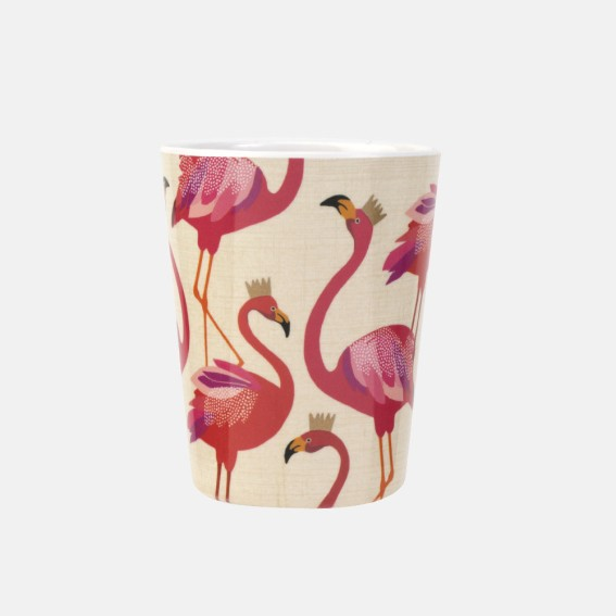 Flamingo Melamine Beaker - Set of 4