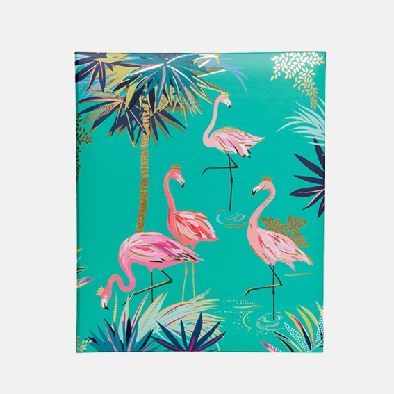 Decorative print, Tropical leaf pattern, Exotic leaves, Tropical pattern, Tropical leaf print, Patterned, stationery, flamingo print, luxury stationery, recipe book, cooking, home cooking, meal plan,