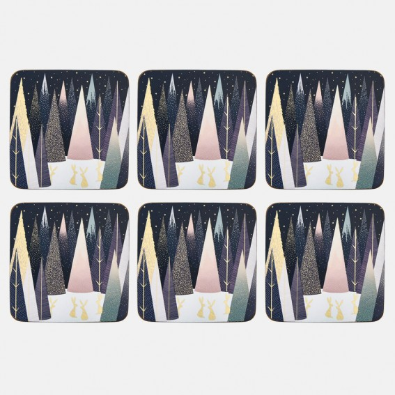 Frosted Pines Coasters - Set of 6