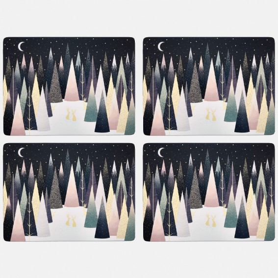 Frosted Pines Large Placemats - Set of 4