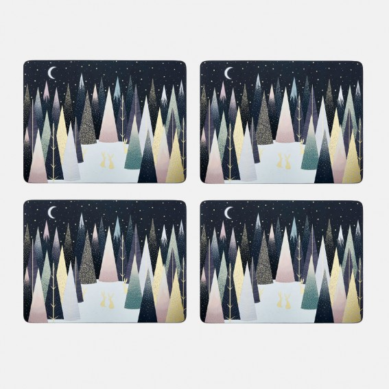 Frosted Pines Placemats - Set of 4