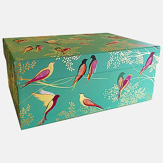 Green Birds Large Gift Box