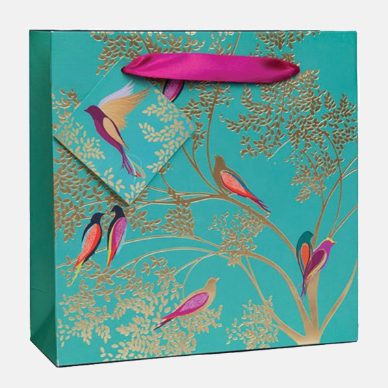 Green Birds Medium Gift Bag