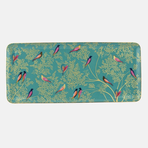 Green Birds Sandwich Tray